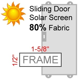 Sliding Door Screen, 80% Solar Screen Fabric