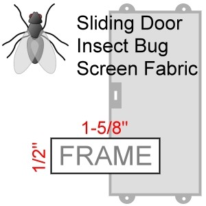 Sliding Door Screen, Insect Bug Screen Fabric