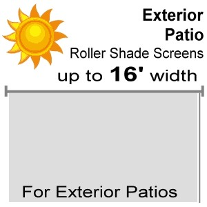 "Exterior Patio Roll Shade Screens - 82"" Drop"