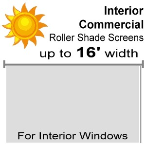 "Interior Commercial Roll Shade Screens - 82"" Drop"